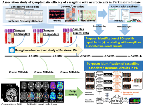 Association study of symptomatic efficacy of rasagiline with neurocircuits in Parkinson's disease